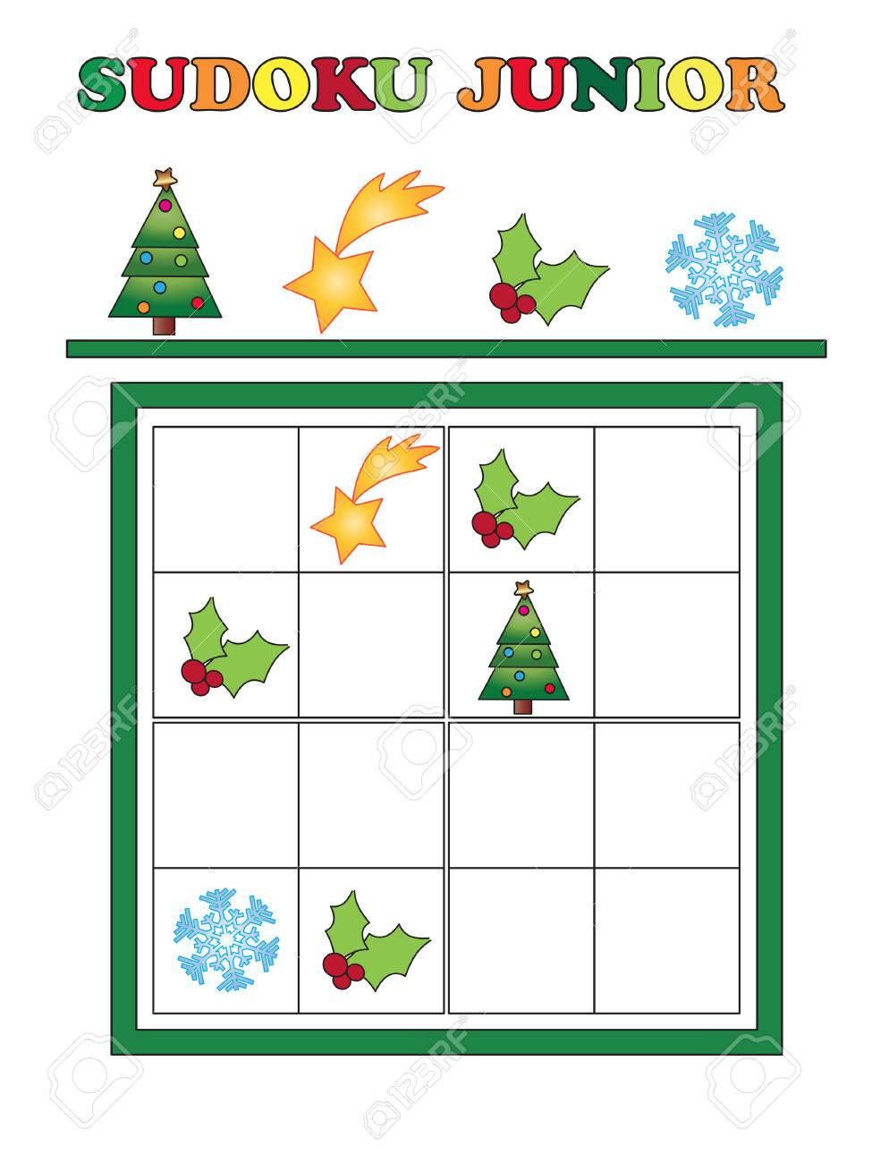 Christmas Sudoku.Game For Children For Christmas Sudoku Junior