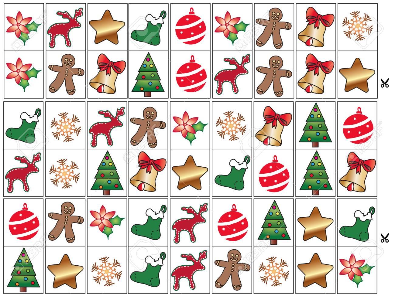 Juego Para Ninos Domino De Navidad Fotos Retratos Imagenes Y