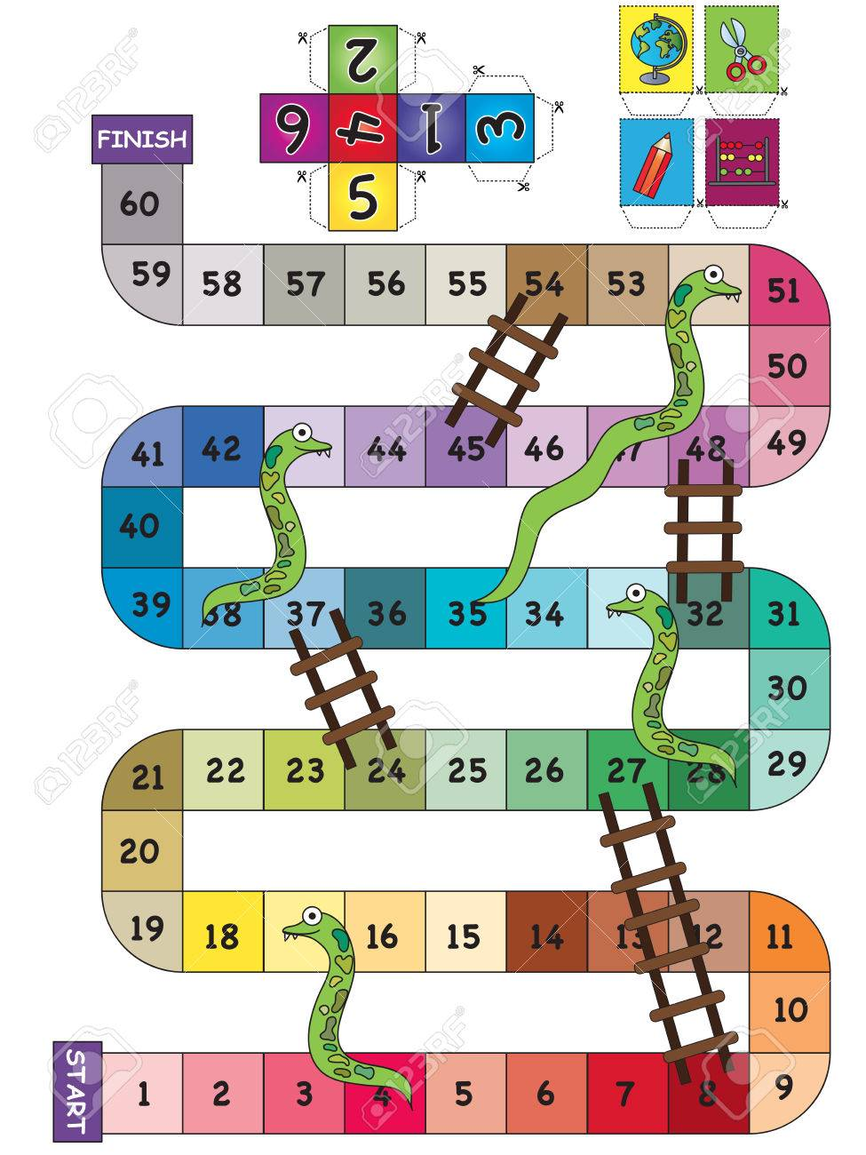 An Indoor Game Of Snake Ladder Stock Photo Picture And Royalty Free Image Image 71930963