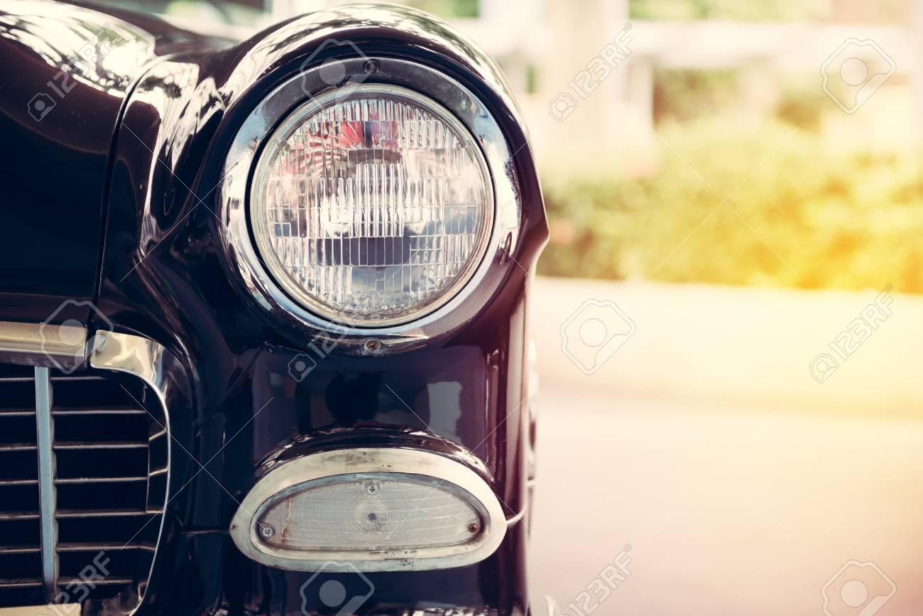 Lampe Phare De Style Vintage Retro Voiture Classique Banque D