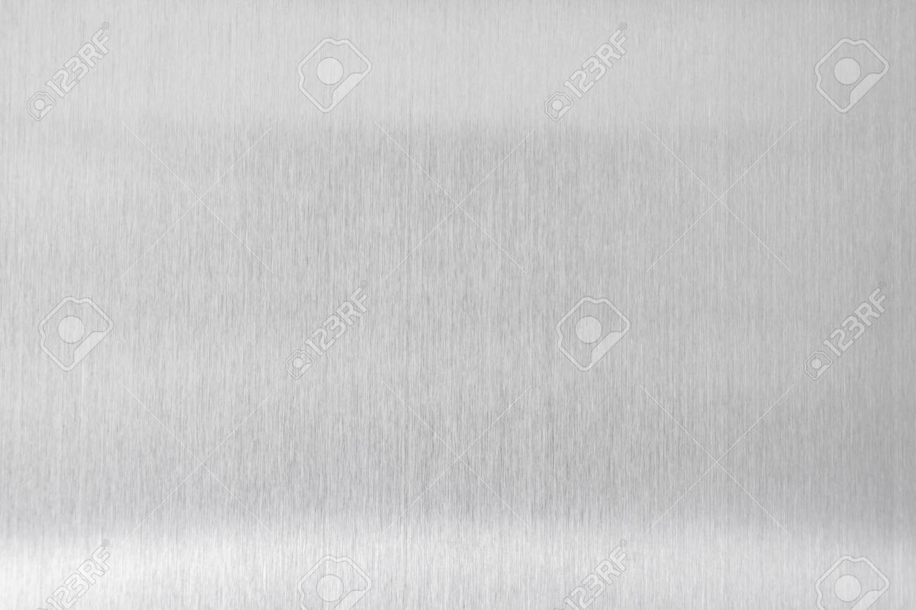 texture metal background of brushed steel plate - 121327910