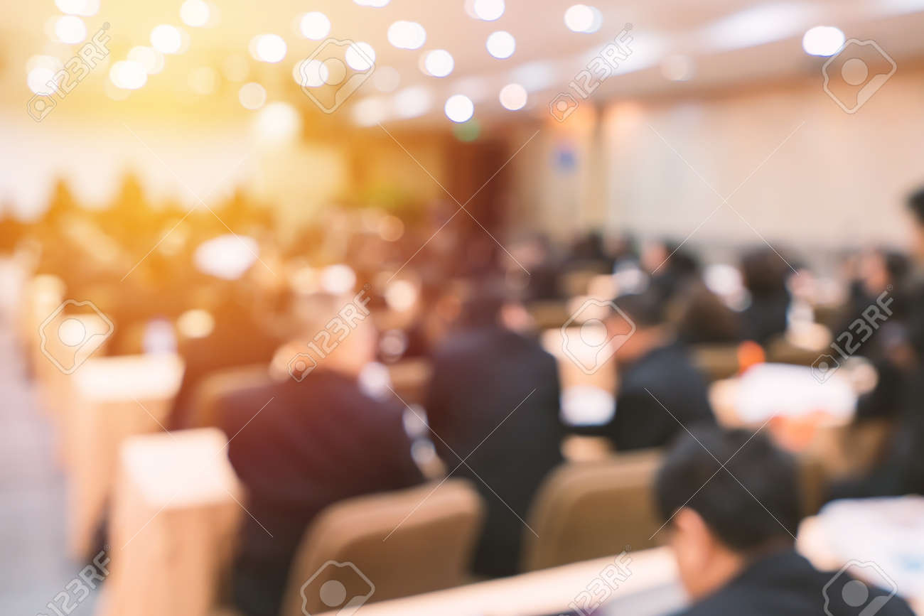 Blur of business Conference and Presentation in the conference hall. - 129141058