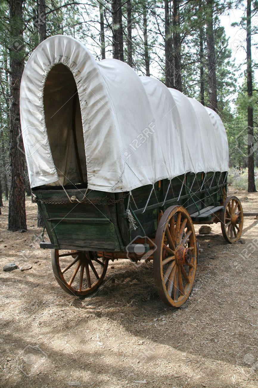 Covered Wagon, 19th Century Homestead, High Desert Museum, Central ...