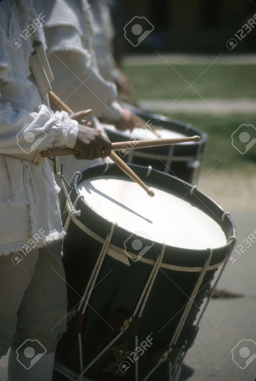 Drummers in white colonial uniforms,Williamsburg,Virginia, - 3320877