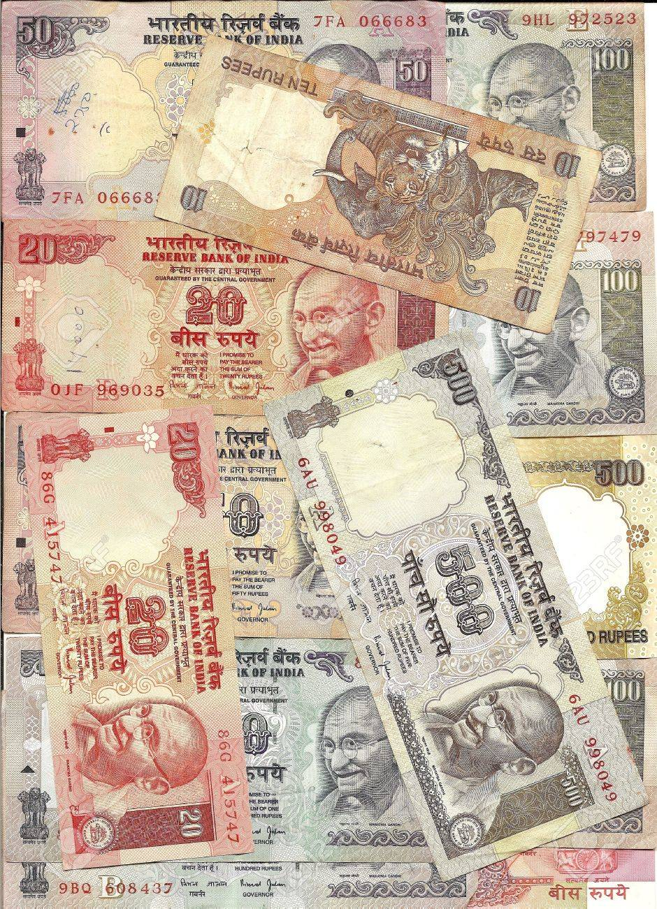Rupee Note Denominations Indian Rupee Notes With
