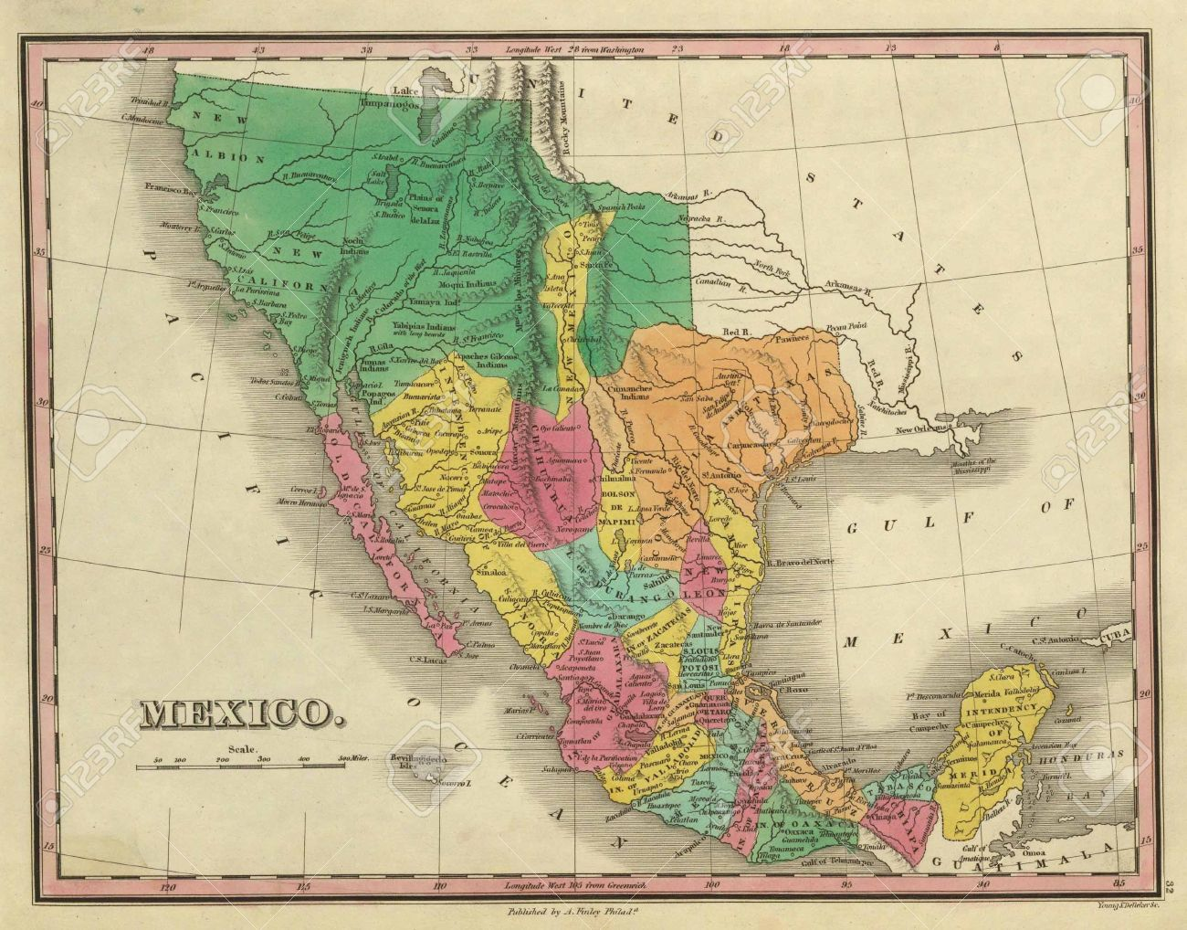 Antique Map Of Texas California And Mexico Out Of Copyright - Mapa texas