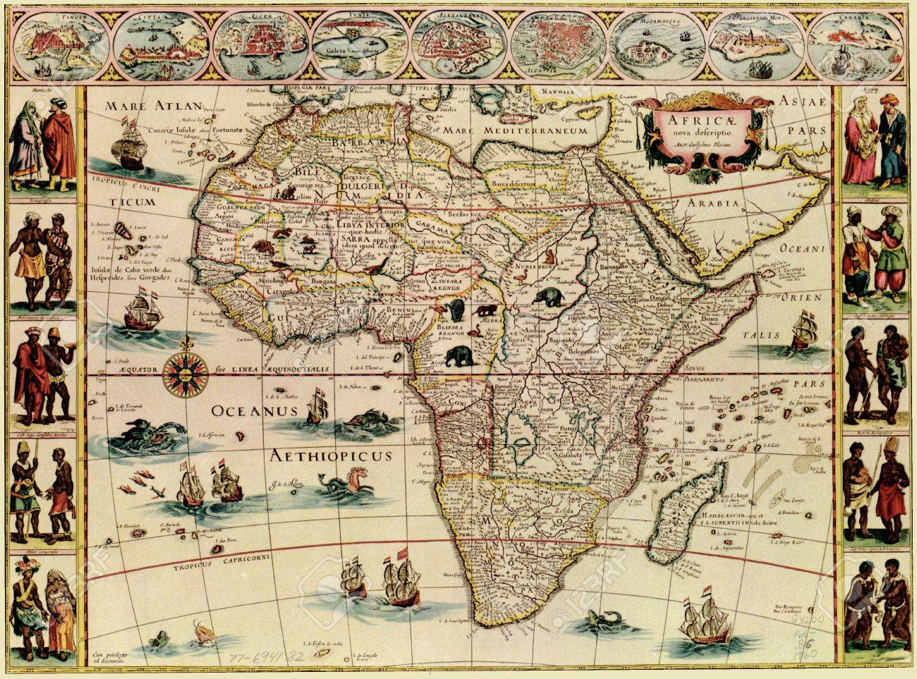 Antique Map Of Africa Stock Photo Picture And Royalty Free Image