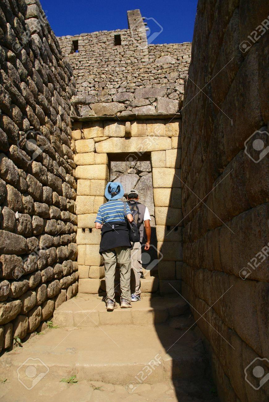 Inca Haus Aus Stein, Ohne Dach, Machu Picchu, Peru, Südamerika Standard