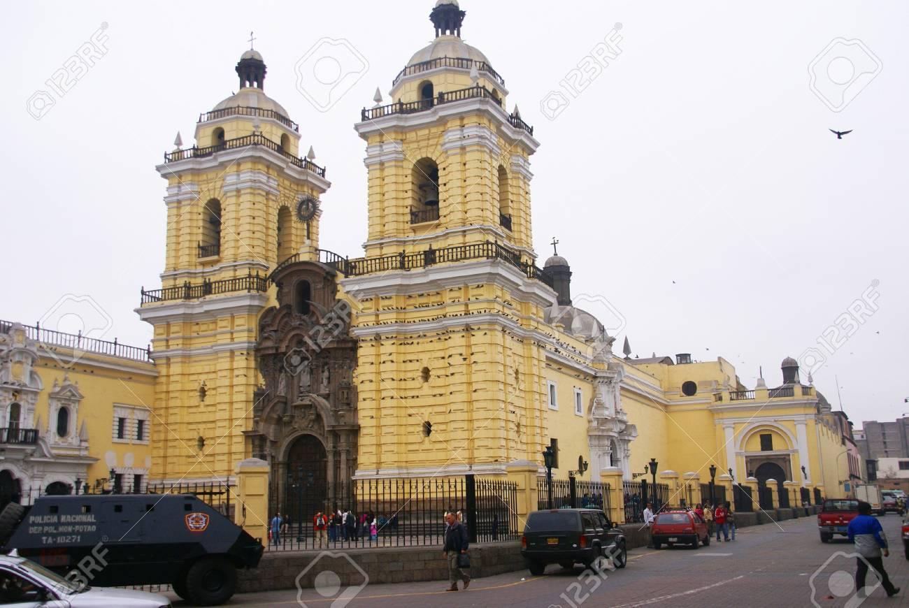 LIMA PERU 30 AUG 2008 -   Cathedral entrance, Lima, Peru, South America Stock Photo - 11654508