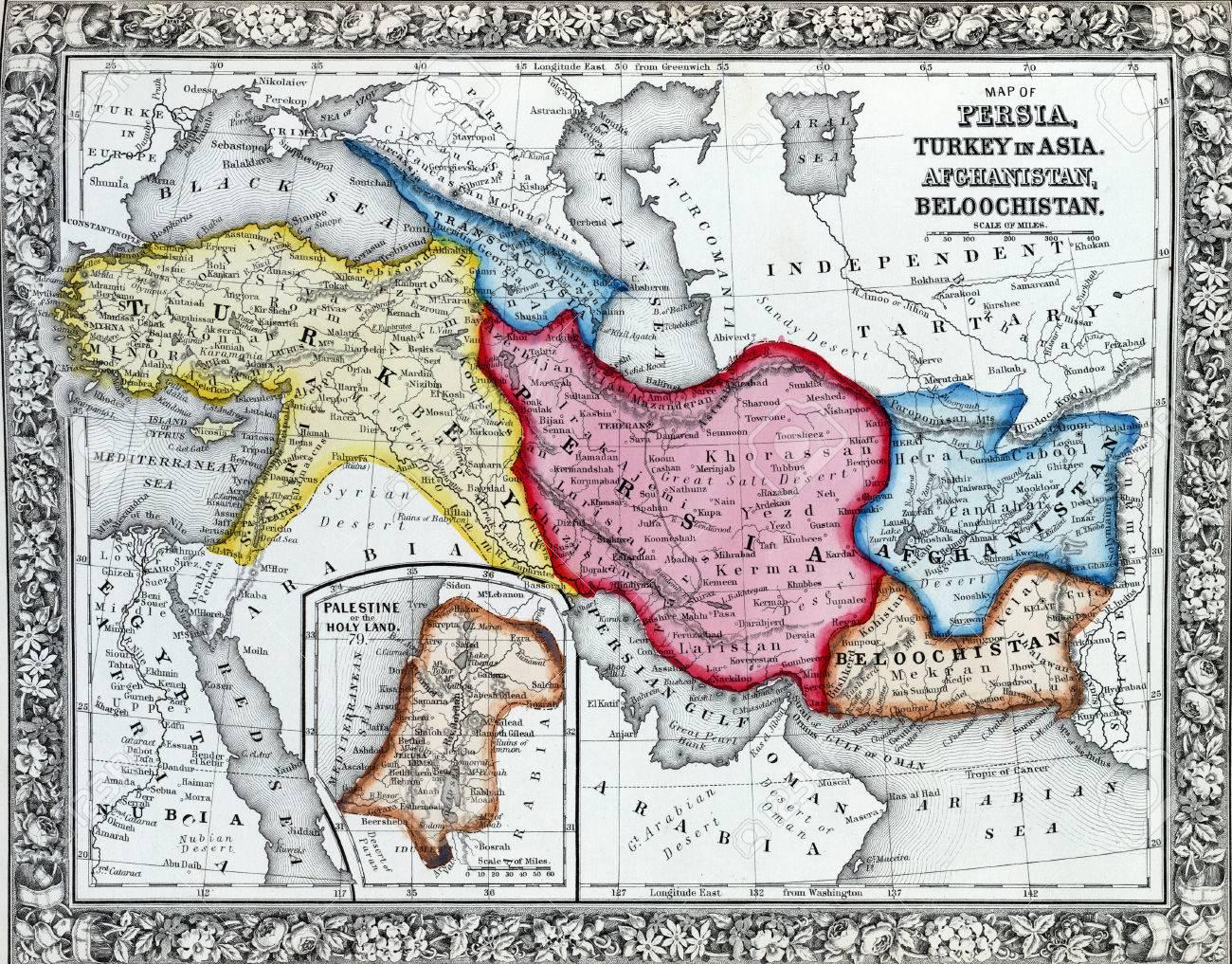 Persien Karte.Stock Photo