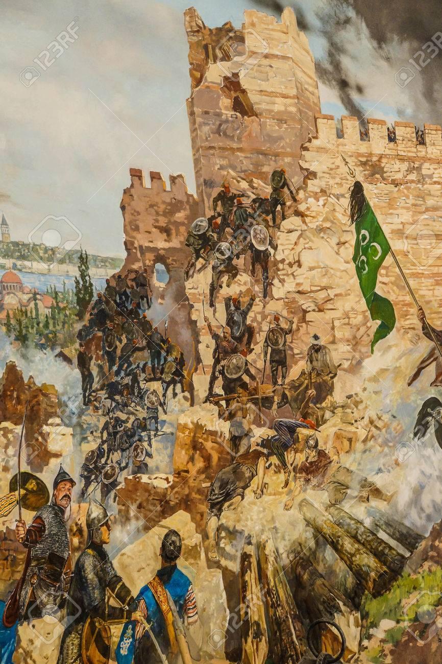 最後の攻撃と 1453 年のコンスタンティノープル陥落の詳細。 軍楽隊 ...