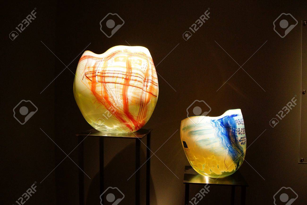 SEATTLE - JUL 23, 2015 - Blown Glass Inspired By Native American ...