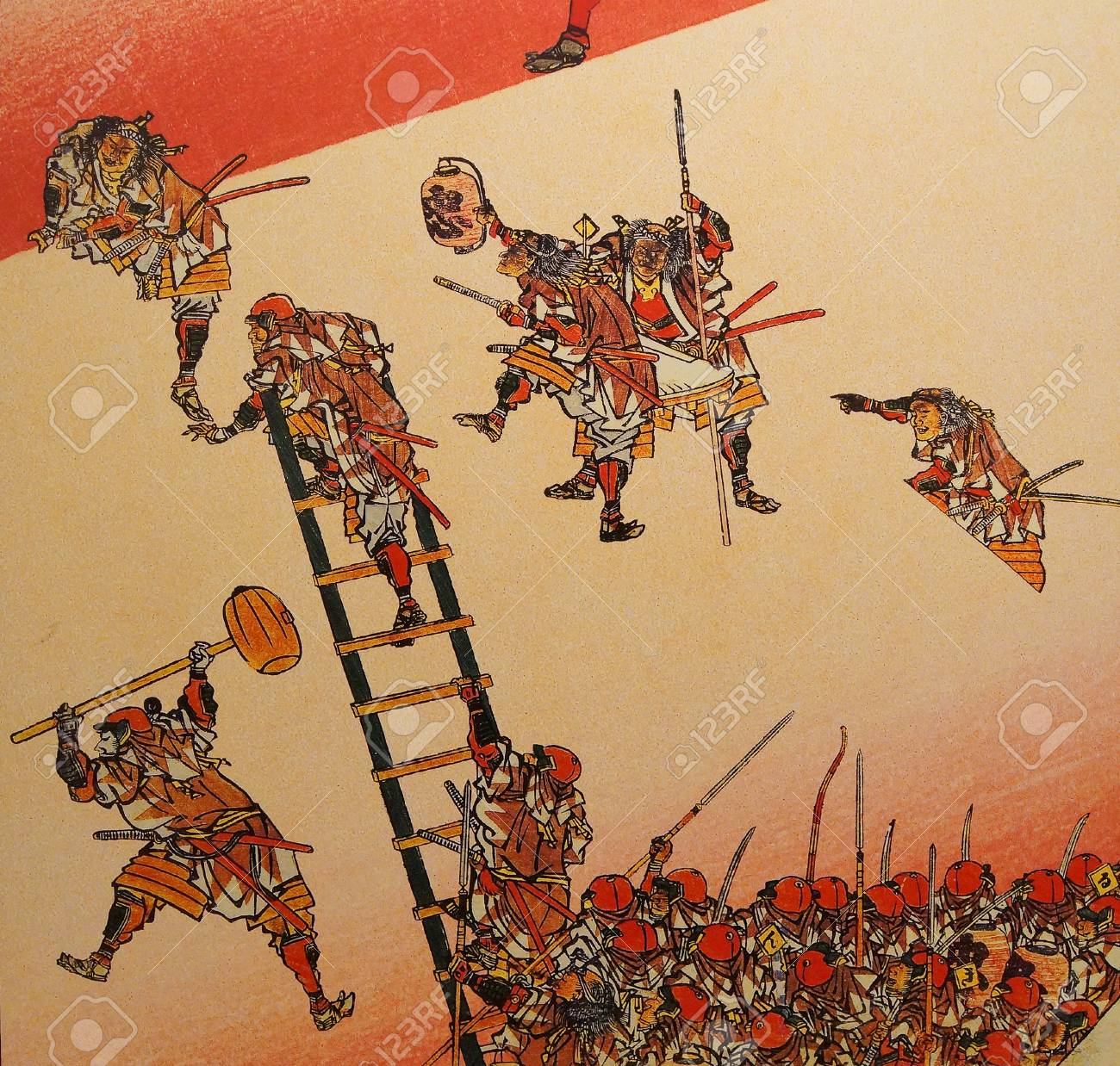 Narita Japan Mar 4 2015 Traditional Japanese Samurai Painting Stock Photo Picture And Royalty Free Image Image 88518561