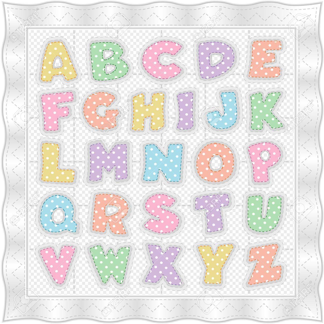 Alfabeto De Bebé Tejido, Patrón Tradicional, Topos Pastel, Moña ...