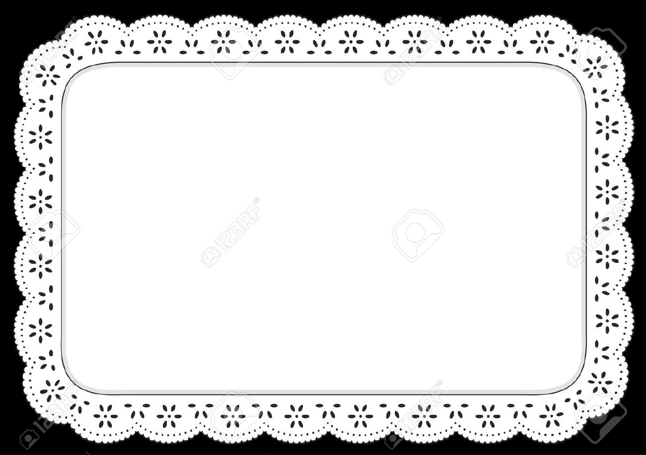 Placemat, White eyelet lace doily for setting table, cake decorating, home decor, celebrations, holidays, scrapbooks, arts, crafts. Stock Vector - 11059519