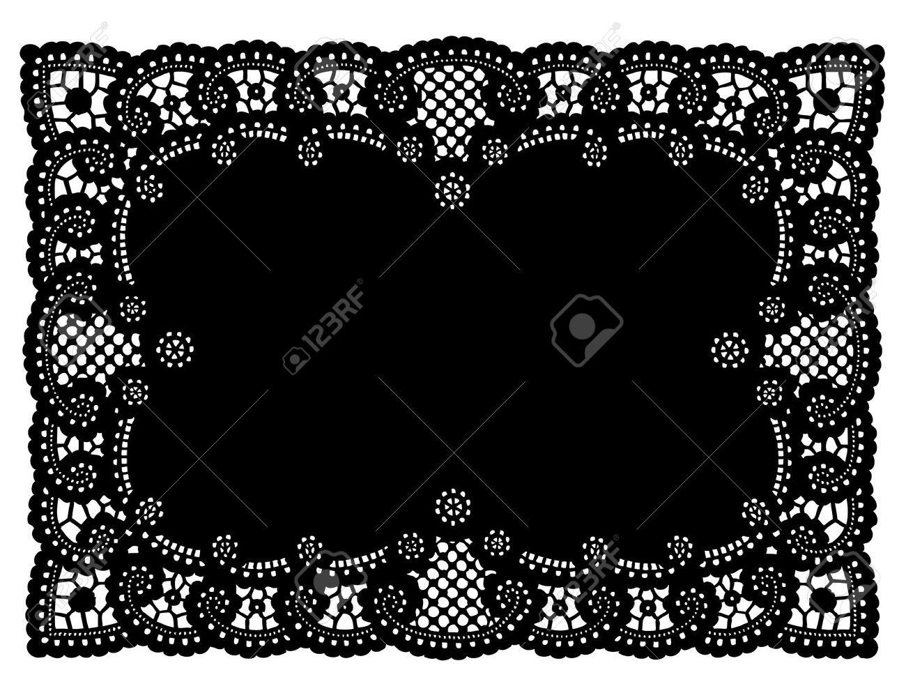 Vintage Muster Schwarz Spitzendeckchen Tischset Für Die Einstellung ...