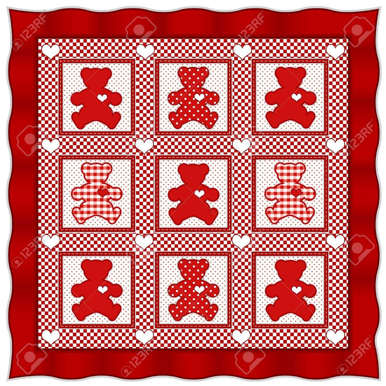 Teddy Bear Quilt Old Fashioned Baby Quilt Pattern Valentine
