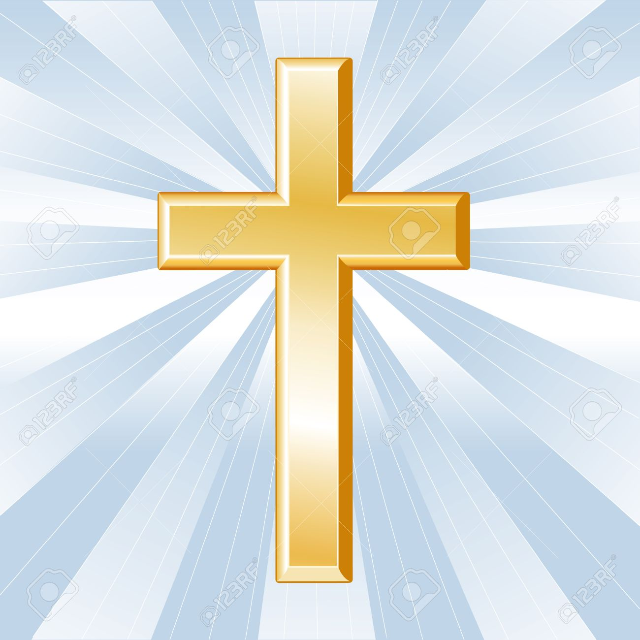 Christianity symbol golden cross crucifix icon of christian christianity symbol golden cross crucifix icon of christian faith on a sky blue buycottarizona