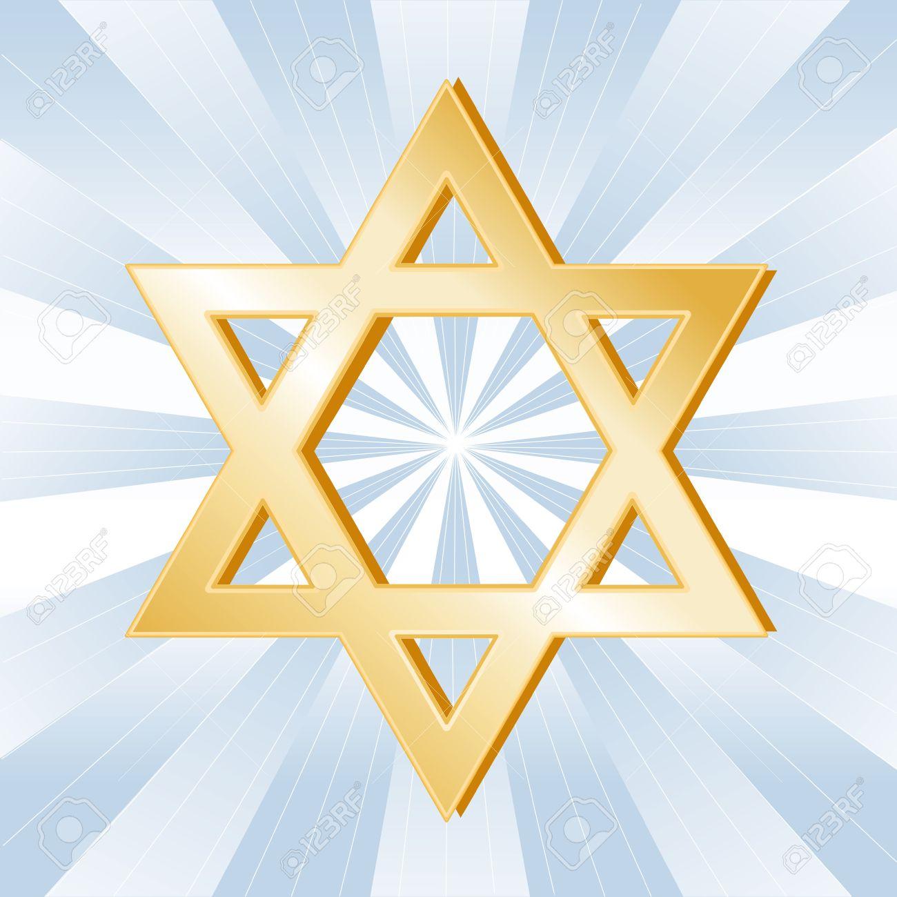 Judaism Symbol Golden Star Of David Icon Of The Jewish Faith