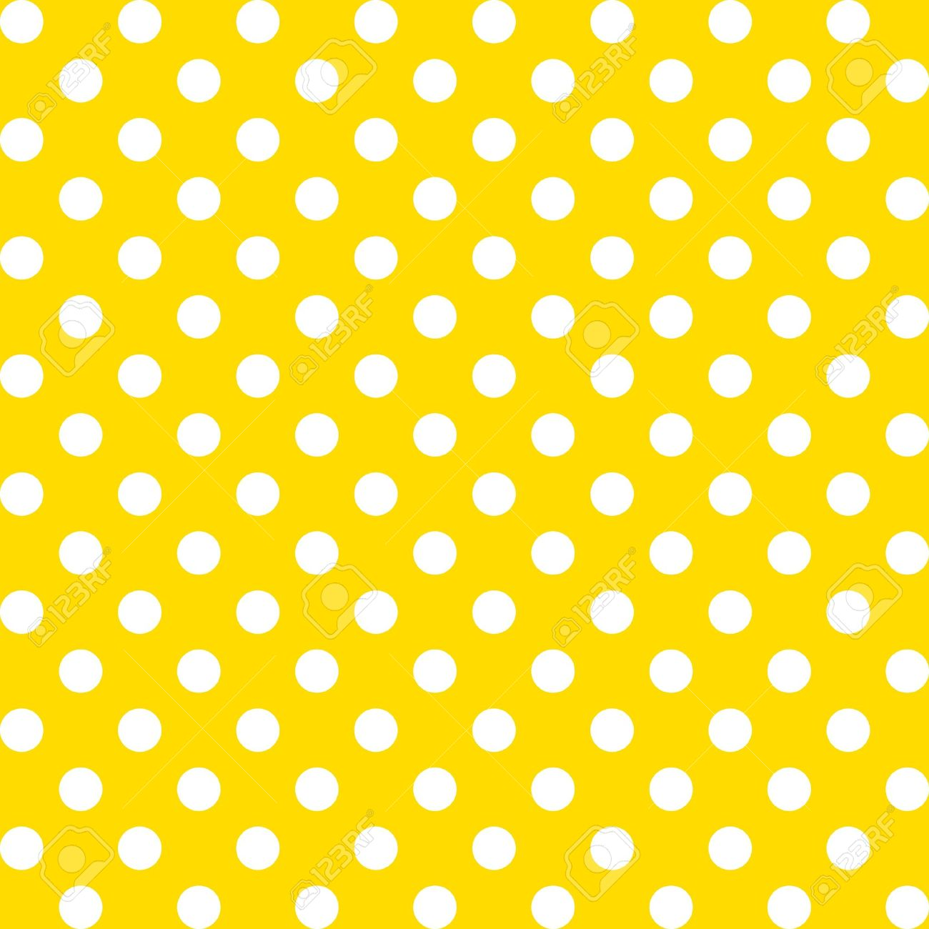 seamless pattern big white polka dots on yellow stock vector 11959277
