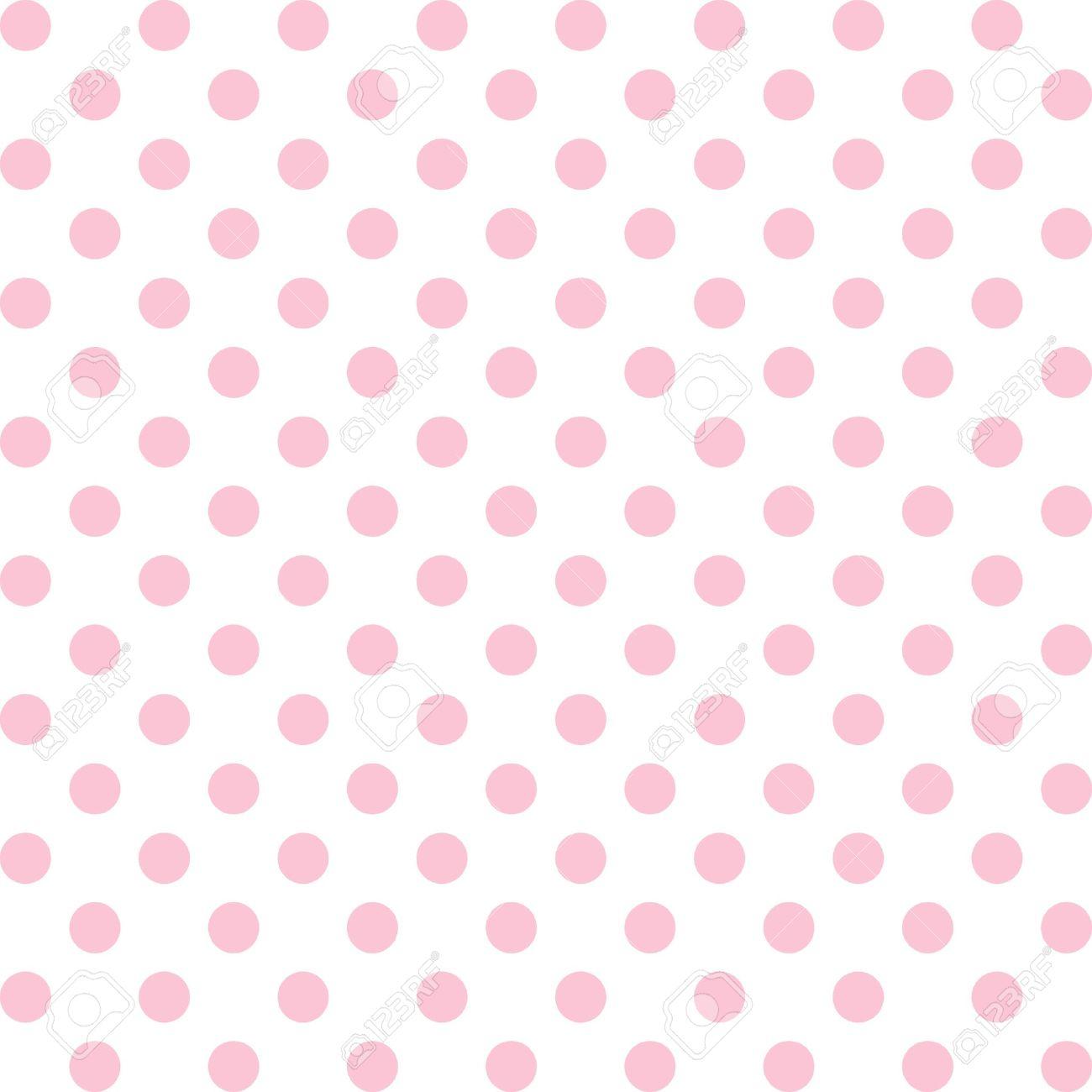 Fondo de lunares blanco y rosa