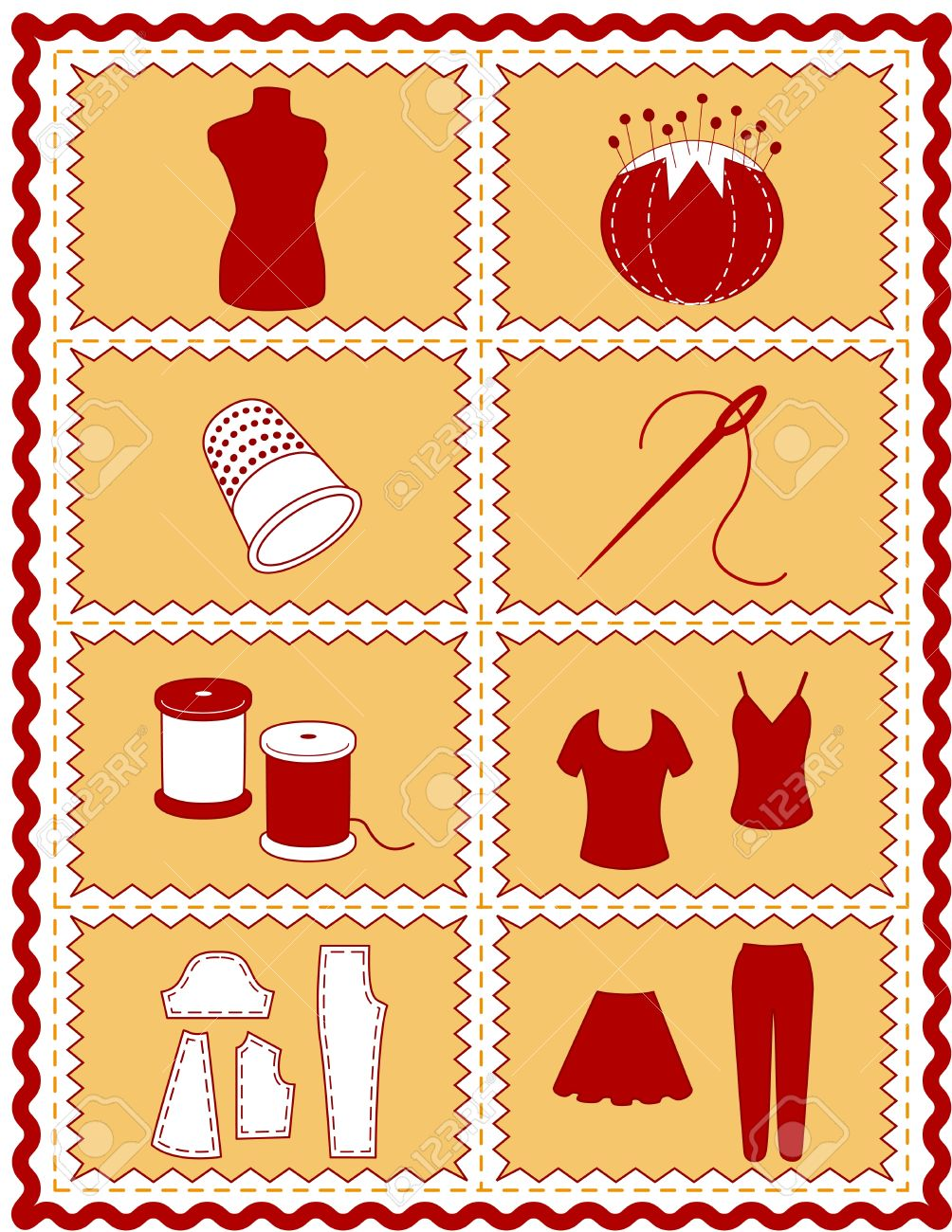 Sewing And Tailoring Icons. Tools And Supplies For Sewing ... : supplies for quilting - Adamdwight.com