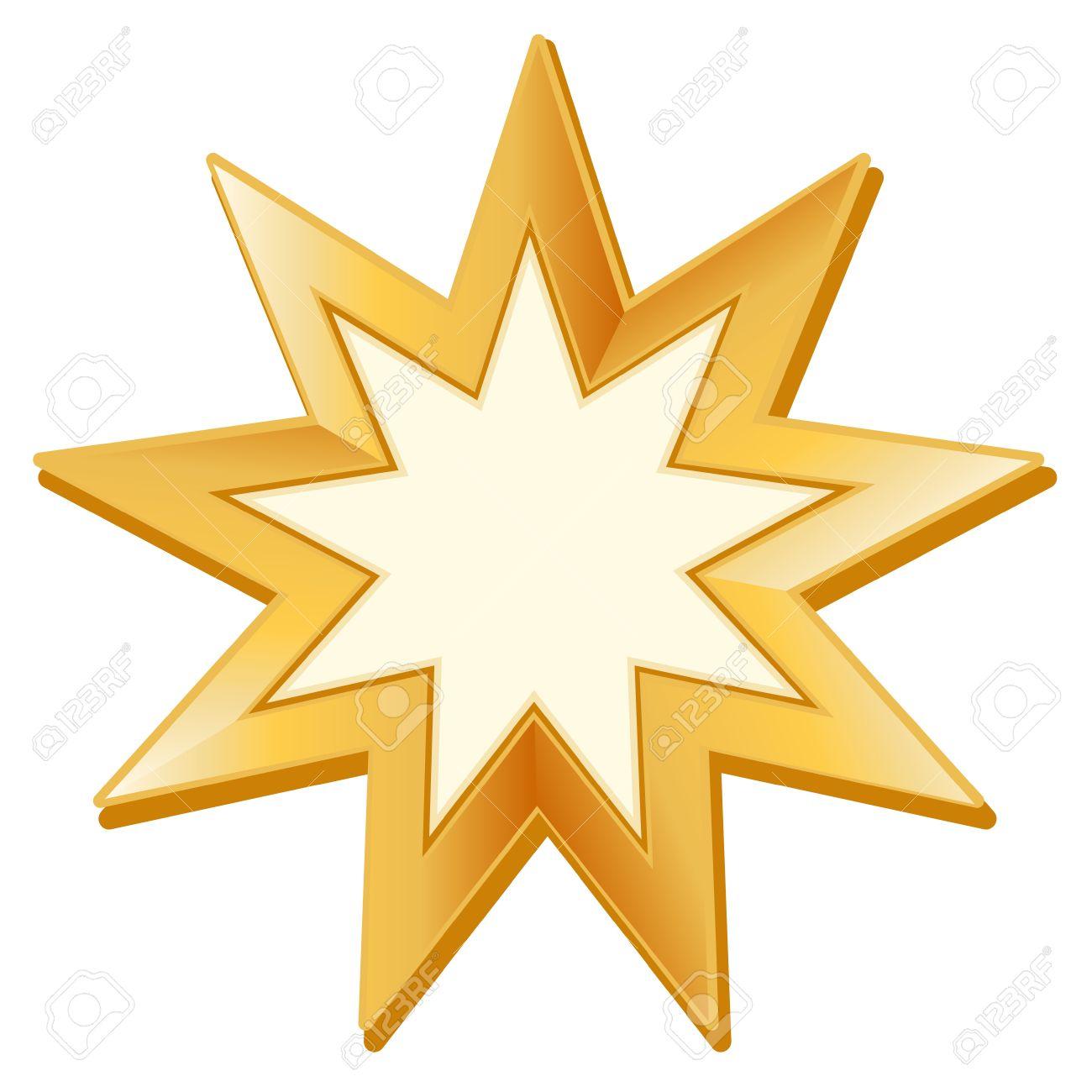 Bahai symbol golden nine pointed star symbol of bahai faith bahai symbol golden nine pointed star symbol of bahai faith white buycottarizona