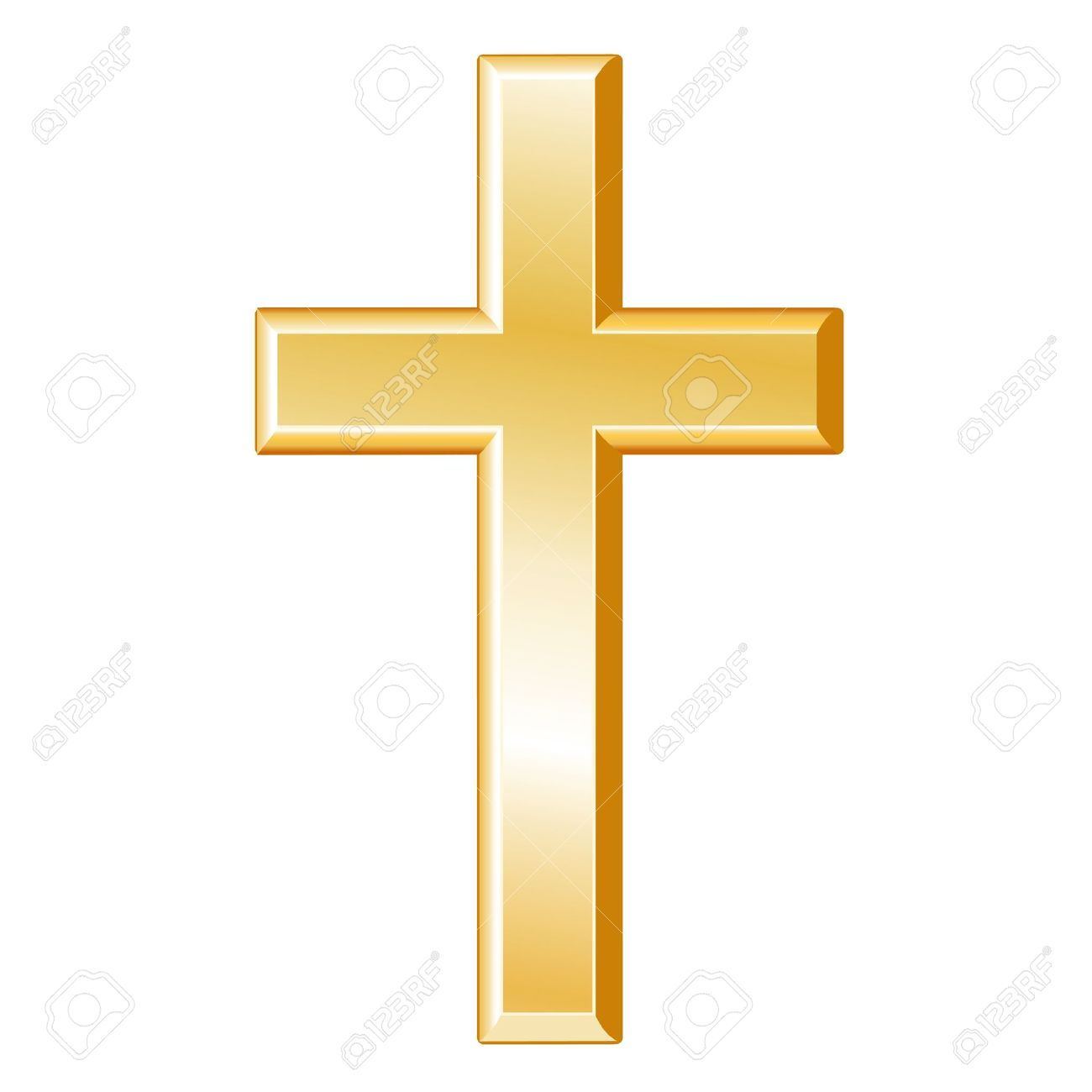 Gold Christian Cross Clipart