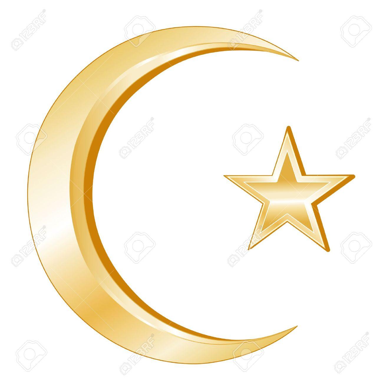 Islam Symbol Crescent And Star Golden Symbols Of Islamic Faith