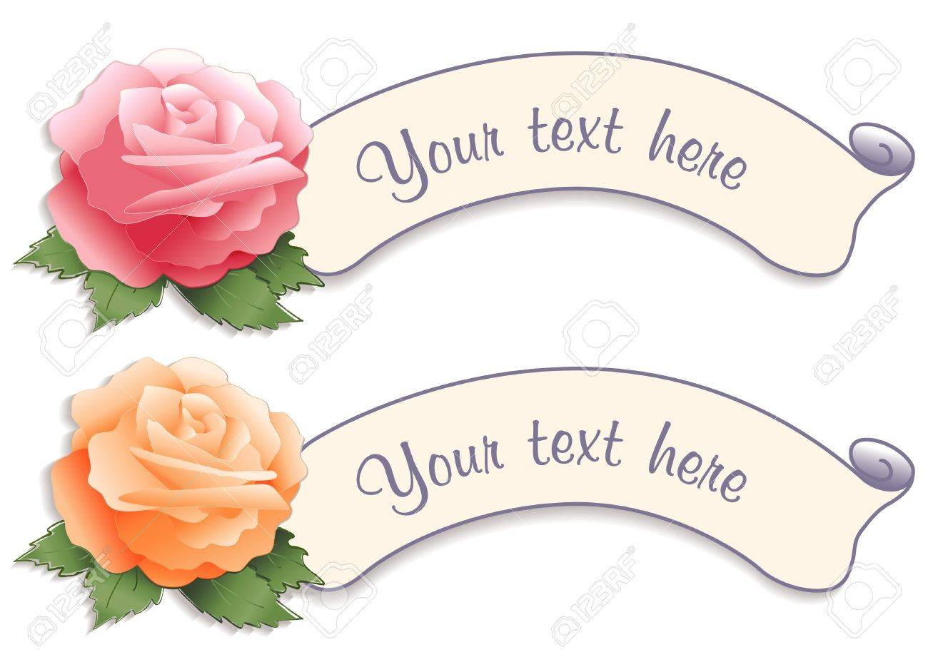 Vintage Label Tags with Rose Flowers Stock Vector - 12392300
