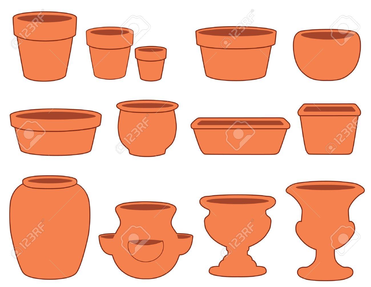 macetas de jardn y cermica vasijas de barro pequeas medianas y grandes platos