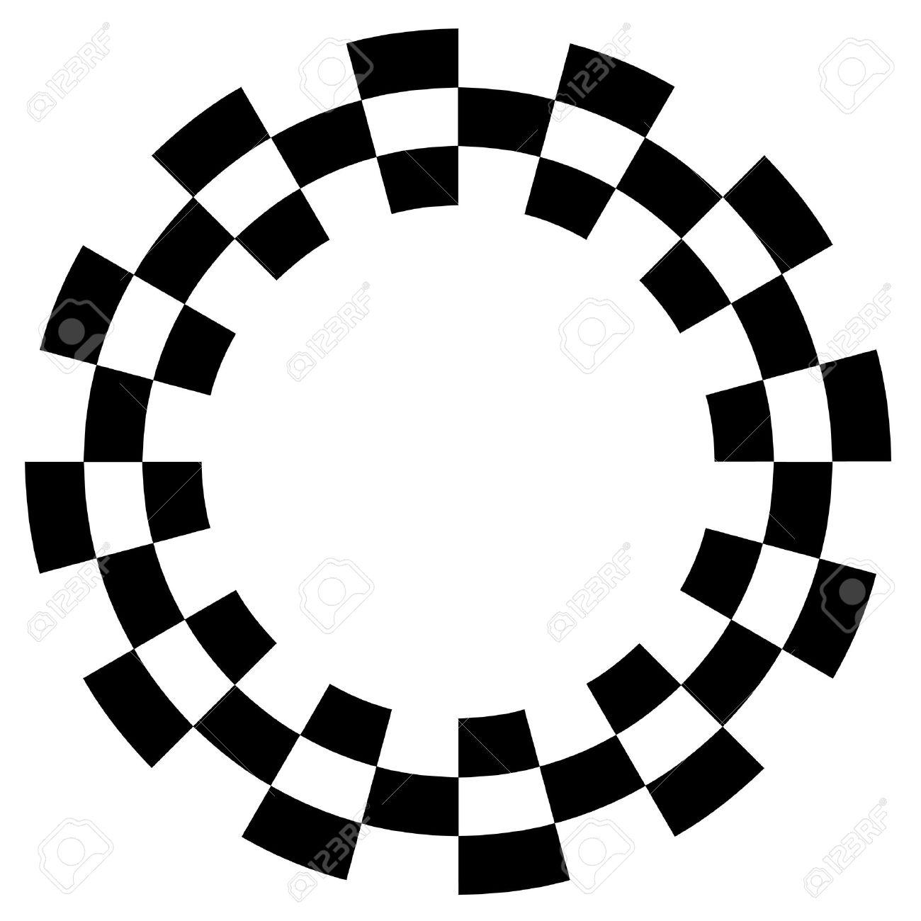 Checkerboard Frame, Spiral Design Border Pattern, Copy Space ...