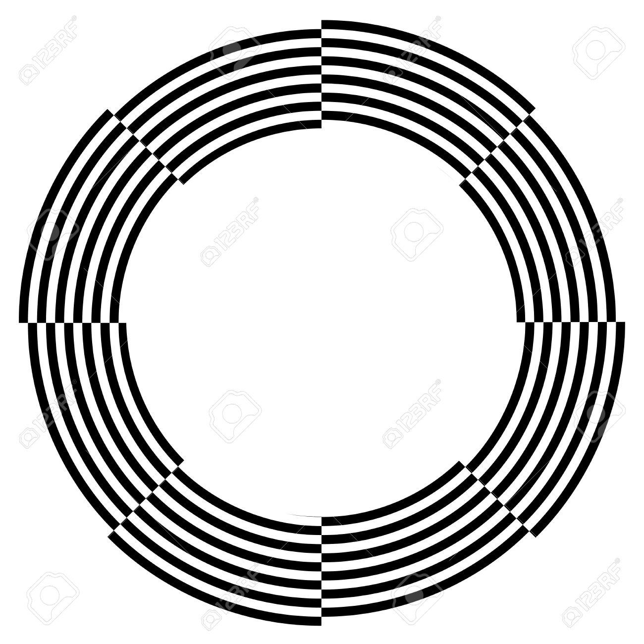 Spiral Frame, Illusion Border, Broken Pattern Design, Copy Space ...