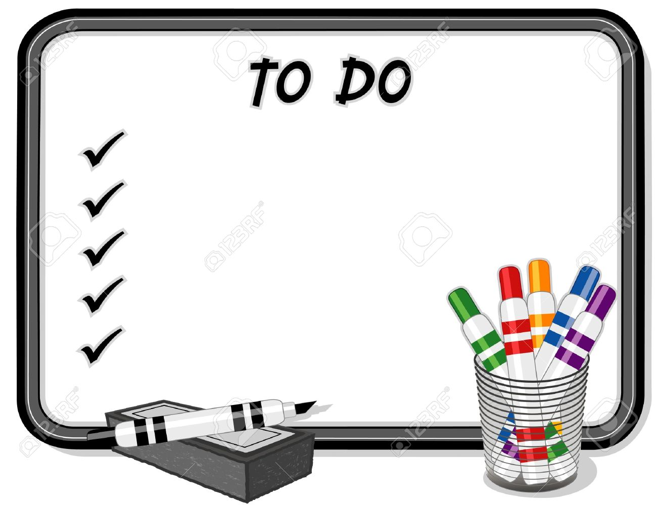 to do list on whiteboard royalty free cliparts vectors and stock rh 123rf com Work Clip Art Clipboard Clip Art