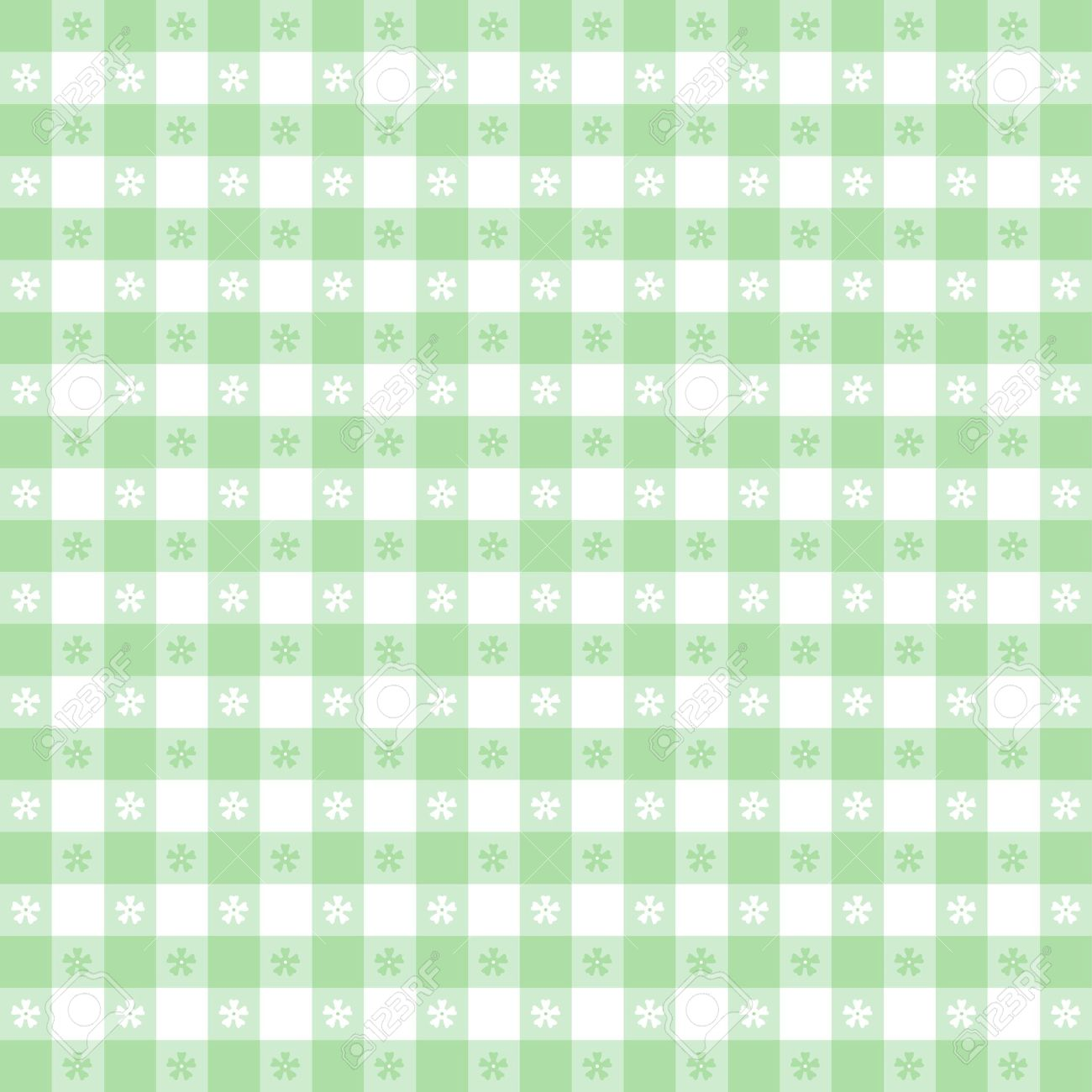 Seamless Tablecloth Pattern, Pastel Green Gingham Check EPS8 File Includes  Pattern Swatch That Will Seamlessly