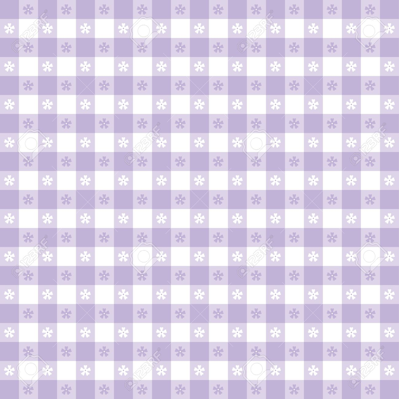 Merveilleux Seamless Tablecloth Pattern, Pastel Lavender Gingham Check EPS8 File  Includes Pattern Swatch That Will Seamlessly