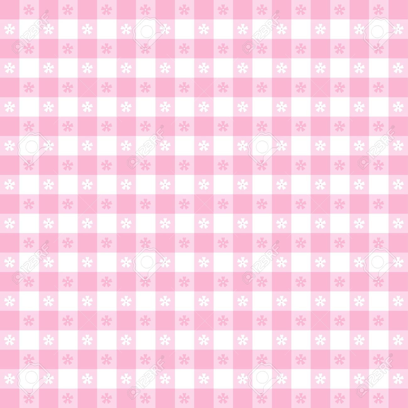 Seamless Tablecloth Pattern, Pastel Pink Gingham Check EPS8 File Includes  Pattern Swatch That Will Seamlessly