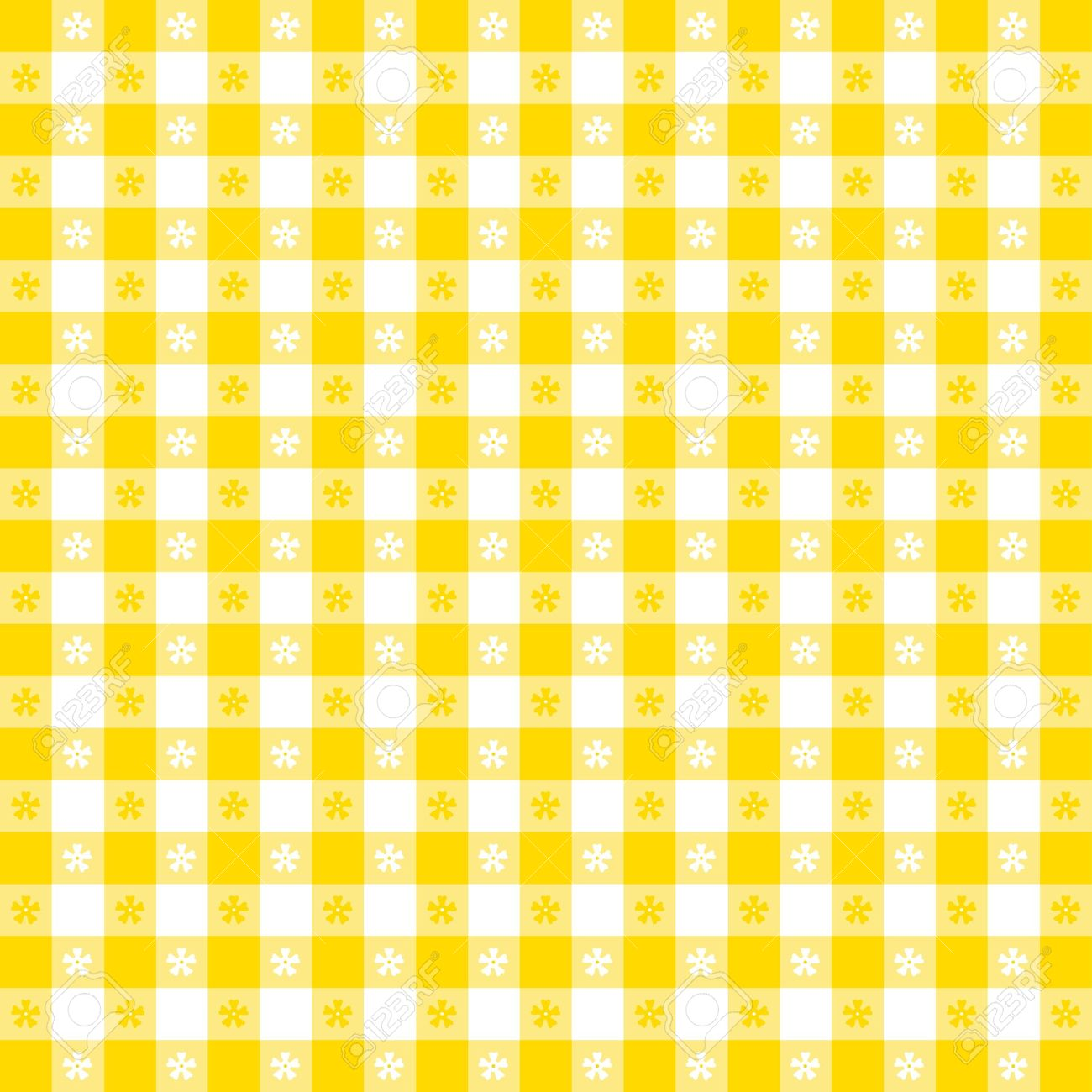 Yellow Kitchen Wallpaper Seamless Tablecloth Pattern Royalty Free Cliparts Vectors And