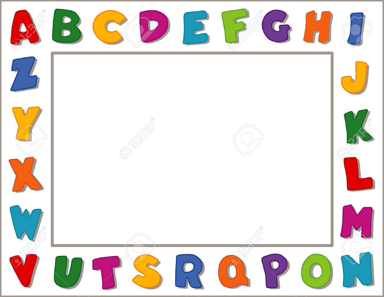 Printables Alphabets For Kindergarten worksheet alphabets for kindergarten mikyu free alphabet frame white background royalty cliparts vectors stock vector 13285819