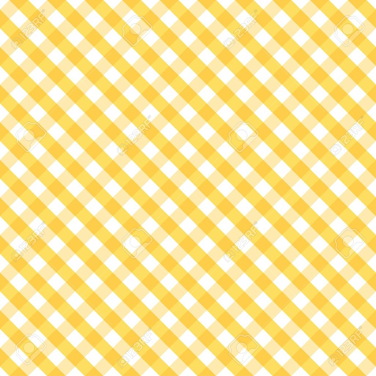 Seamless Cross Weave Gingham Pattern in yellow and white includes pattern swatch that will seamlessly fill any shape - 14202155