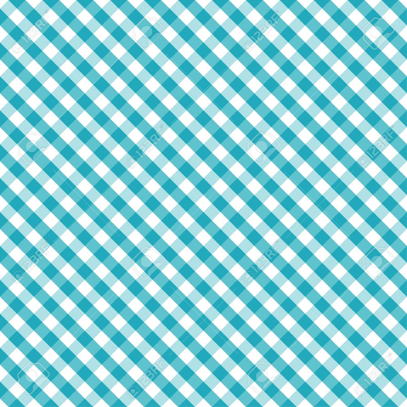 Seamless Cross Weave Gingham Pattern in aqua and white, includes pattern swatch that will seamlessly fill any shape - 14202190