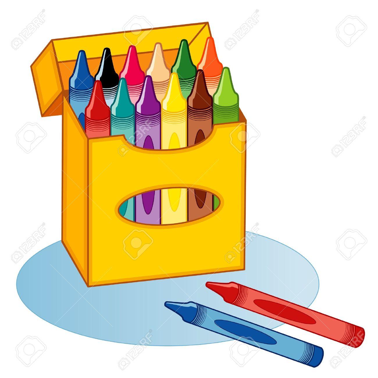 Big Box Of Crayons, Multicolor Royalty Free Cliparts, Vectors, And ...