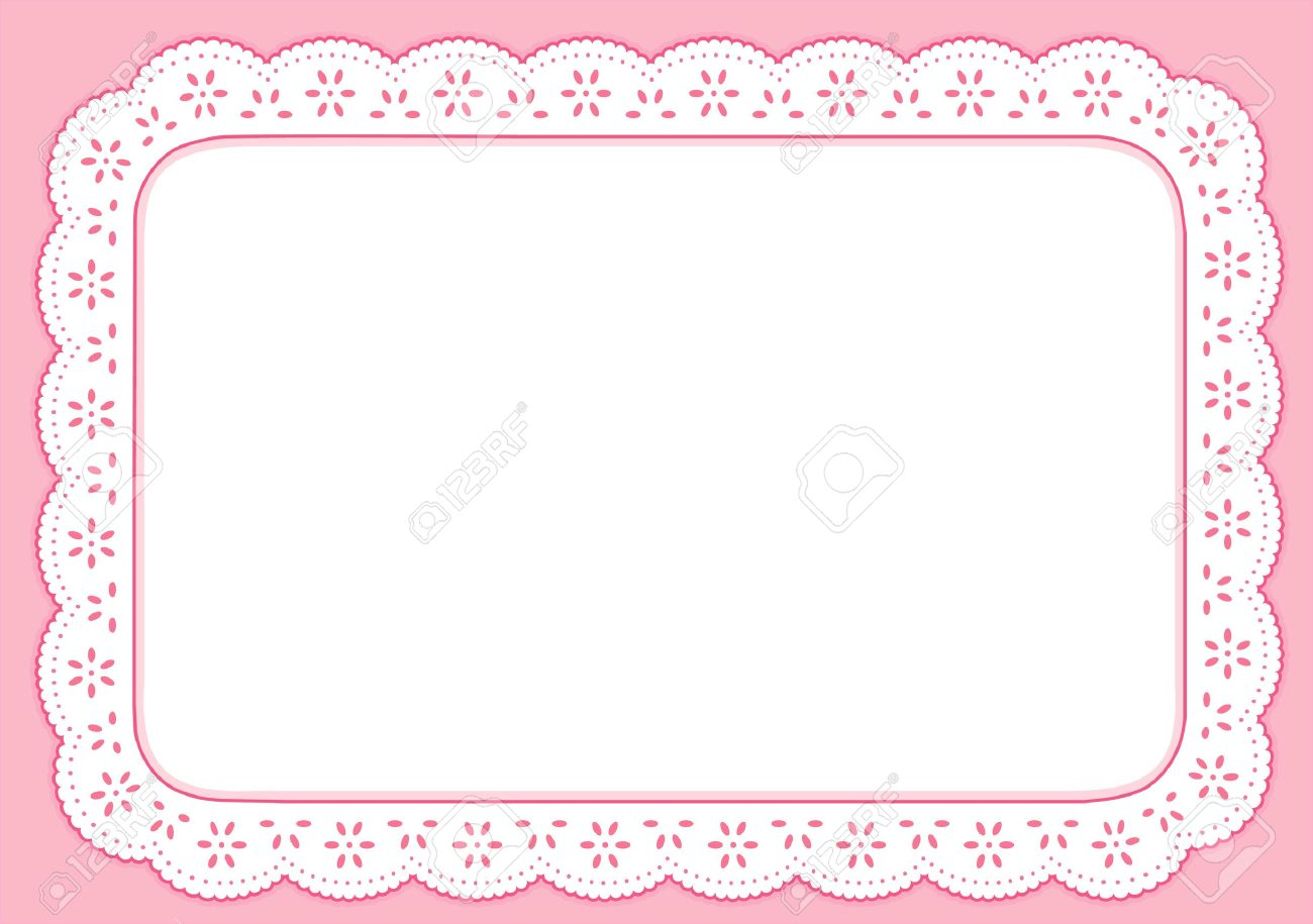 Placemat, Pastel Pink Eyelet Lace Embroidery, copy space Stock Vector - 14851507