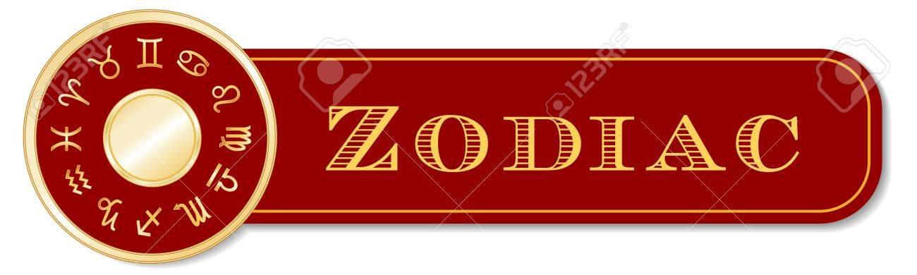 Zodiac Banner, 12 Astrology Sun Signs, Gold Horoscope Mandala ...