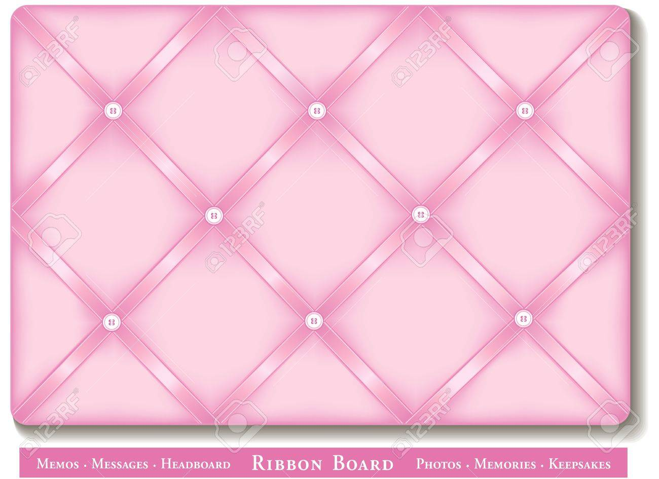 Ribbon Bulletin Board Pastel Pink Satin Ribbons On French Style