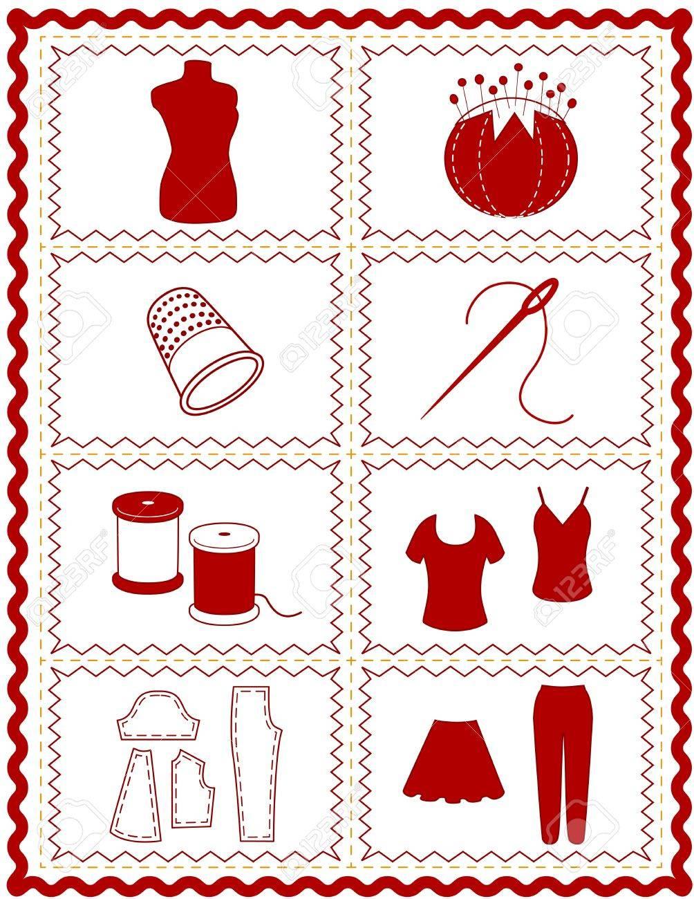 Costura Iconos, Herramientas E Insumos Para La Confección, Costura ...