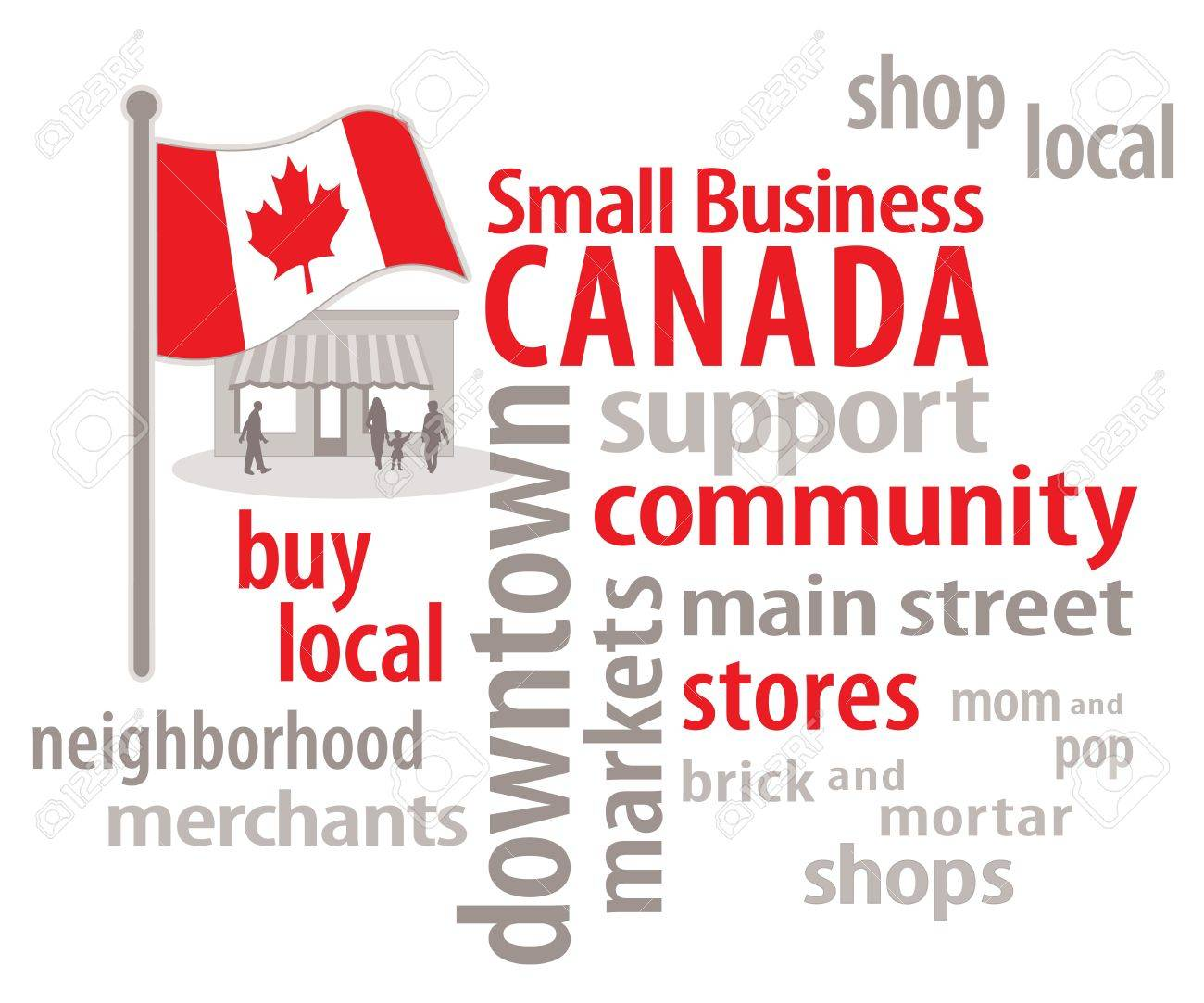 Marvelous Small Business Canada Word Cloud Canadian Flag Main Street Hairstyle Inspiration Daily Dogsangcom