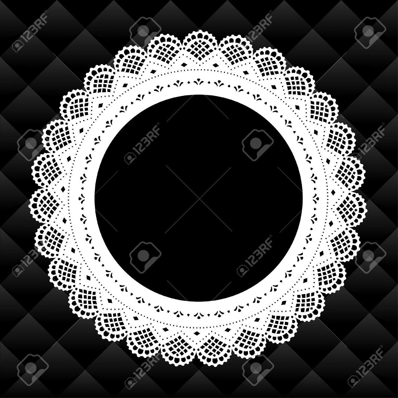 Vintage Lace Bilderrahmen Runde Deckchen Diamant Gesteppte ...