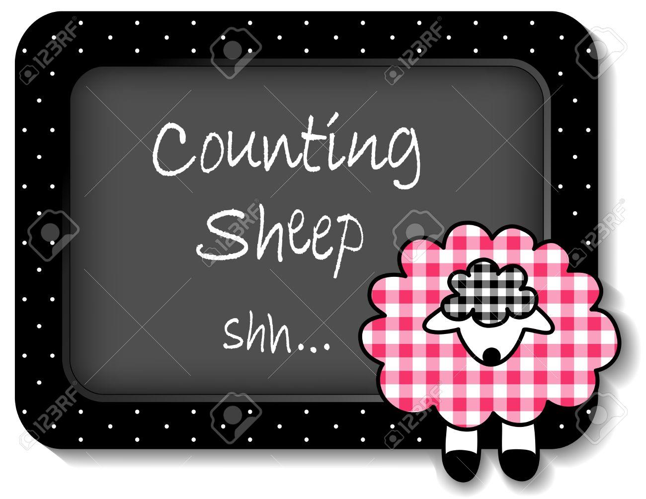 baby lamb nap time bulletin board counting sheep pastel pink