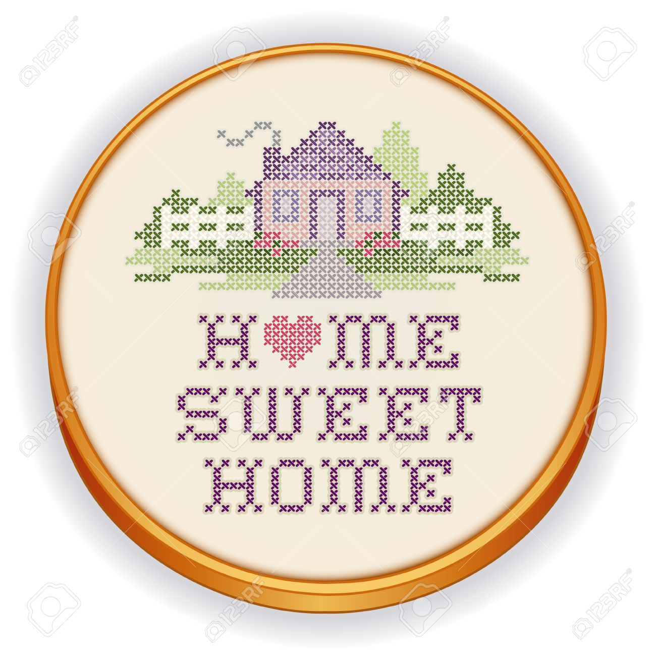 Home Sweet Home Vintage vintage embroidery, home sweet home royalty free cliparts, vectors
